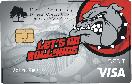 Bulldog debit card